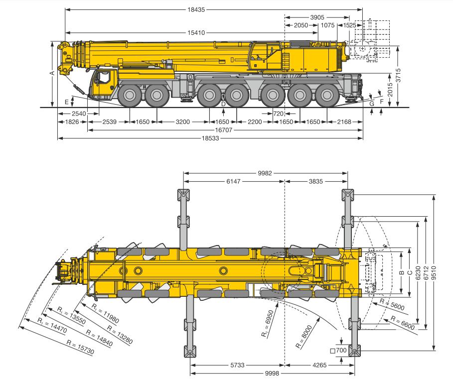 Liebherr LTM 1400 400 тонн СХЕМА
