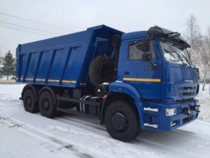 Самосвал 20 тонн КАМАЗ 6522 синий